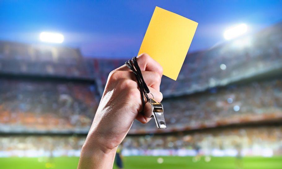 gult kort fodbold