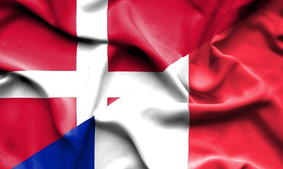 danmark frankrig flag