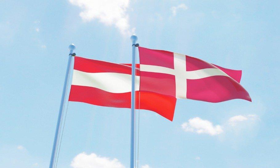 østrig danmark flag