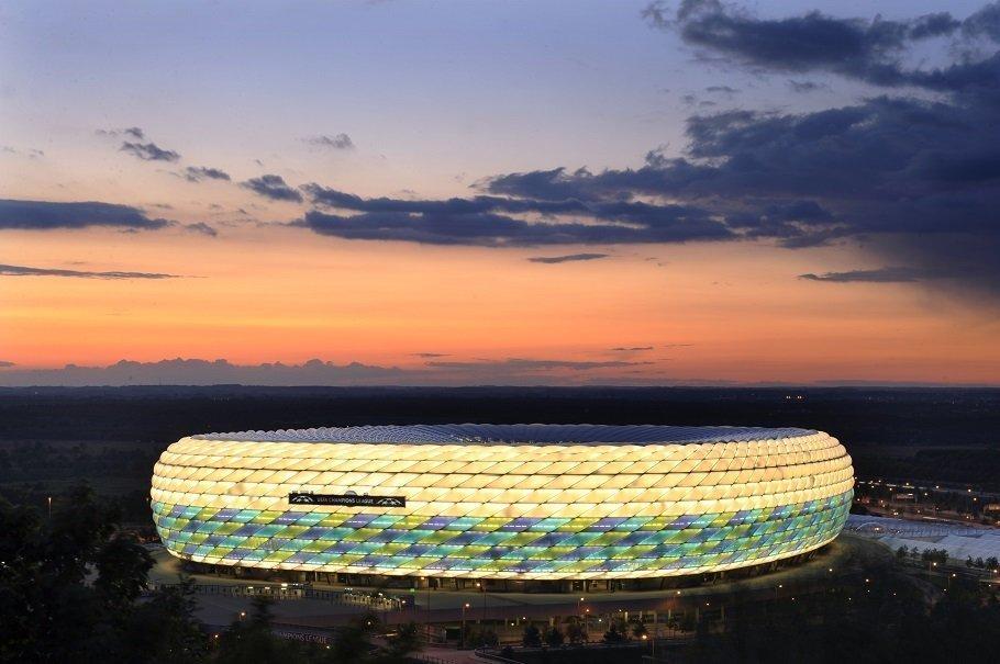 bayerns stadion allianz arena i munchen