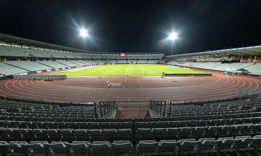 løbebanen på AGFs stadion Ceres Park